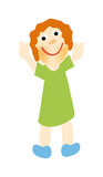 Vector happy girl Stock Images
