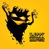 Vector happy halloween card design template. Royalty Free Stock Photo