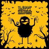 Vector happy halloween card design template. Royalty Free Stock Photography