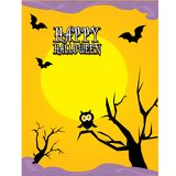 Vector happy halloween card design template. Stock Image