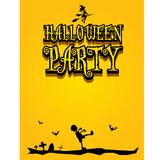 Vector happy halloween card design template. Stock Images