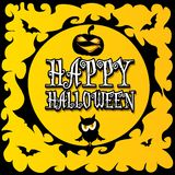 Vector happy halloween card design template. Royalty Free Stock Images