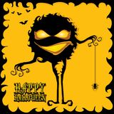 Vector happy halloween card design template. Royalty Free Stock Photos