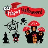 Vector Happy Halloween Concept Cartoon Illustration. Stock Photography