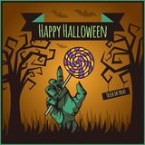 Vector Happy Halloween poster Stock Image