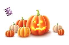 Free Vector Happy Halloween Pumpkin Jack Lanterns Gourd Royalty Free Stock Image - 125070566