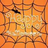 Vector Happy Halloween Text Banner, Illustration EPS10 Royalty Free Stock Image