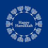 Vector Happy Hanukkah Background Stock Image