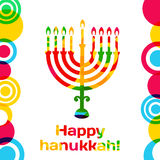 Vector Happy Hanukkah greeting card design. Stock Image