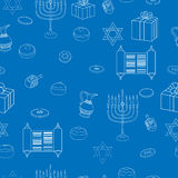 Vector Happy Hanukkah Holiday Seamless Pattern Background. Stock Photos