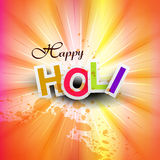 Vector happy holi for indian festival Stock Image