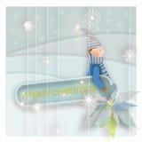 Vector Happy Holidays Postcard Royalty Free Stock Photo