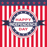 Vector Happy Independence Day background with stars and stripes. Stock Images