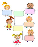 Vector happy kids Stock Images