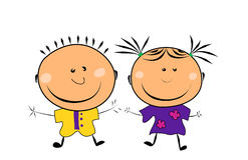 Vector happy kids Stock Images