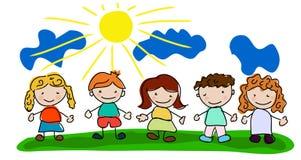 Vector Happy Kids Royalty Free Stock Photo