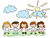 Vector happy kids Royalty Free Stock Images