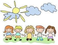Vector happy kids Royalty Free Stock Image