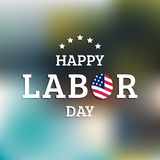 Vector Happy Labor Day card. National american holiday illustration. Vector Happy Labor Day card. National american holiday illustration with USA flag. Festive Stock Image