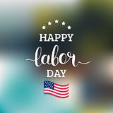 Vector Happy Labor Day card. National american holiday illustration. Vector Happy Labor Day card. National american holiday illustration with USA flag. Festive Royalty Free Stock Photos