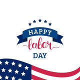 Vector Happy Labor Day card. National american holiday illustration. Vector Happy Labor Day card. National american holiday illustration with USA flag. Festive Royalty Free Stock Photography
