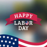 Vector Happy Labor Day card. National american holiday illustration. Vector Happy Labor Day card. National american holiday illustration with USA flag. Festive Stock Photo
