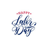 Vector Happy Labor Day typography. National american holiday illustration for festive poster,banner with hand lettering. Vector Happy Labor Day typography Stock Images