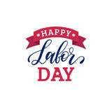 Vector Happy Labor Day typography. National american holiday illustration for festive poster,banner with hand lettering. Vector Happy Labor Day typography Stock Image