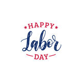 Vector Happy Labor Day typography. National american holiday illustration for festive poster,banner with hand lettering. Vector Happy Labor Day typography Royalty Free Stock Photo