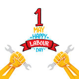 Vector happy labour day poster Stock Photo