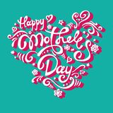 Vector Happy Mather`s day greeting card. royalty free illustration