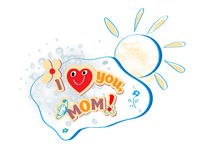 Vector Happy Mothers Day card Stock Photos