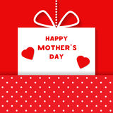 Vector Happy Mothers Day celebration card Royalty Free Stock Images