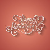 Vector Happy Mothers's Day Inscription with Heart Stock Photo