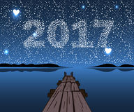 Vector Happy New 2017. Stock Photography