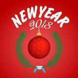Vector 2018 Happy New Year background. Happy New Year 2018 Vector background Stock Photo
