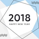 Vector 2018 Happy new year background Stock Image