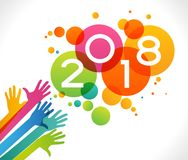 Vector 2018 Happy New Year background Royalty Free Stock Photo