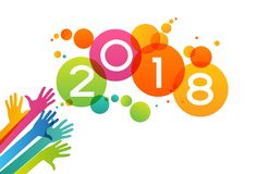 Vector 2018 Happy New Year background Royalty Free Stock Images