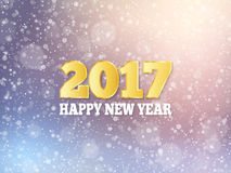 Vector 2017 Happy New Year background. Falling snow effect. Winter festive background. EPS10 vector illustration