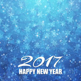 Vector 2017 Happy New Year background. Falling snow texture. EPS10 stock illustration