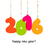 Vector 2016 Happy New Year background.. 2016 Happy New Year background.  The file is saved in the version AI10 EPS. This image contains transparency. Vector Stock Photo