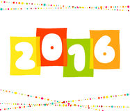 Vector 2016 Happy New Year background.  The file. 2016 Happy New Year background.  The file is saved in the version AI10 EPS. This image contains transparency Royalty Free Stock Photography