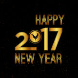 Vector 2017 Happy New Year. Background with gold Stock Photography