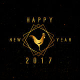 Vector 2017 Happy New Year. Background with gold Royalty Free Stock Photo