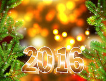 Vector happy new year 2016 background. Stock Photos