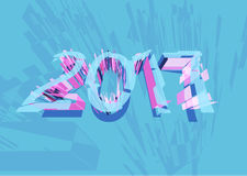 Vector 2017 Happy New Year background. With lines Stock Photography