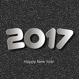 Vector Happy New Year 2017 background with paper cuttings. Happy New Year 2017 background with paper cuttings. Element for greeting cards, posters. calendar Royalty Free Stock Photo