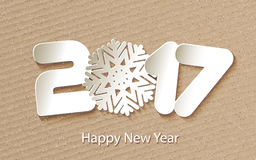 Vector Happy New Year 2017 background with paper cuttings. Happy New Year 2017 background with paper cuttings. Vector Illustration Royalty Free Stock Photography