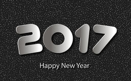 Vector Happy New Year 2017 background with paper cuttings. Happy New Year 2017 background with paper cuttings. Vector Illustration Royalty Free Stock Images